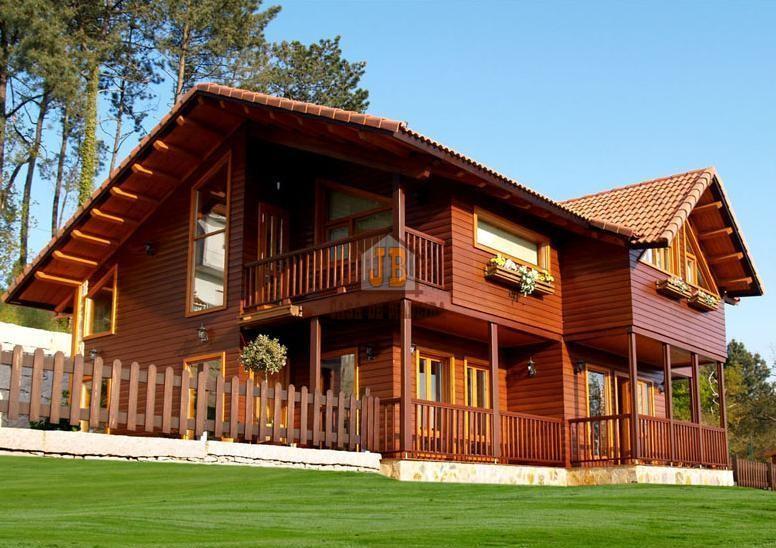 Confira nossas Fotos de Casas Pré-Fabricadas em Madeira de Lei