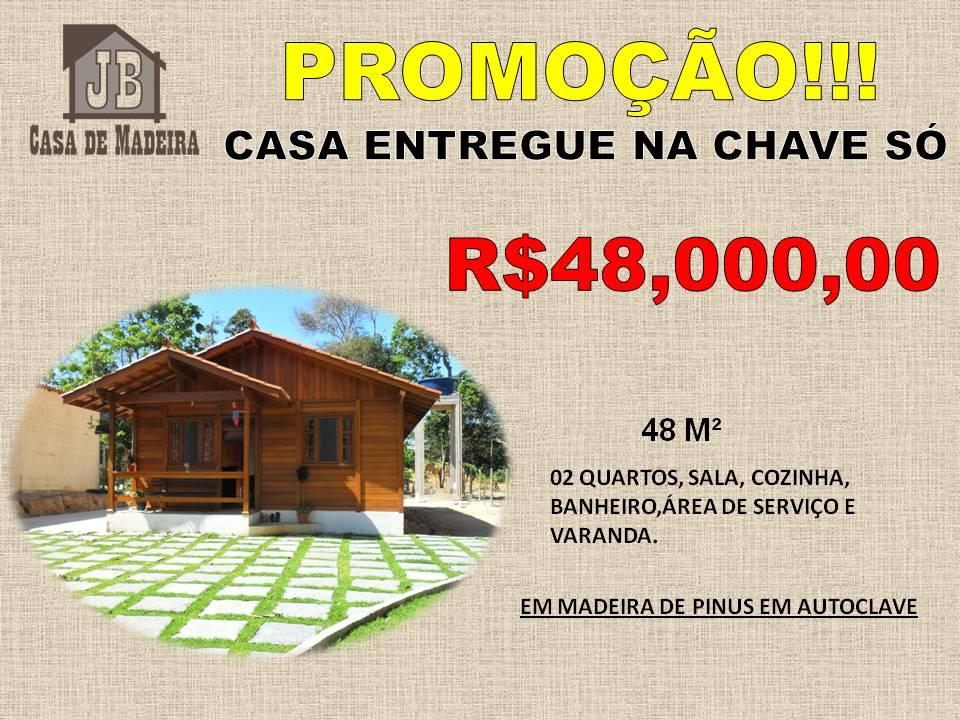 Promoção Casas Pré - Casa de Madeira 48,00 m²