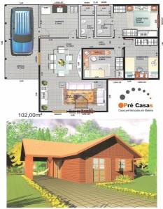 Projeto em Promoção - Pré Casas - 102,00 m²