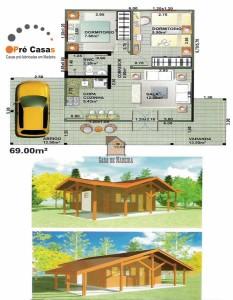 Projetos em Promoção - Pré Casas - 69,00 m²