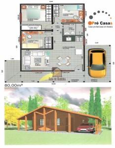 Projetos em Promoção - Pré Casas - 80,00 m²
