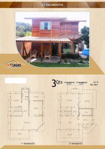 Casa de Madeira - Manhuaçu-MG - 100,18 m²