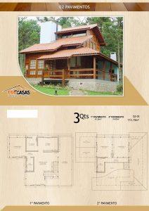 Casa de Madeira - Uberaba-MG - 113,15 m²