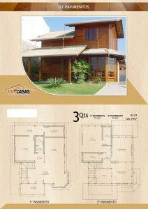 Casa de Madeira - Uberlândia-MG - 126,19 m²