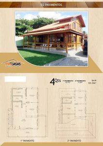 Casa de Madeira - Marília-SP - 133,33 m²