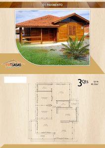 Casa de Madeira - Petrópolis-RJ - 85,52 m²