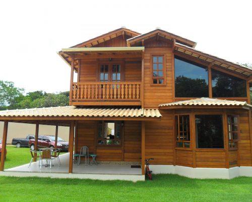 Duplex Casas Pré - Casas de Madeira – Modelo Diadema-SP – 145,00 m²