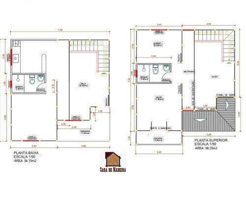 Casa de Madeira Duplex – São Bernardo do Campo-SP – 91,00 m²
