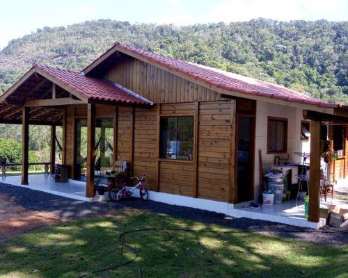 Promoção - Casa de Pinus Tratado 100 m² - Casas Pré