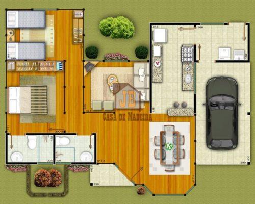 Projeto Prado - BA – 97,85 m² – Casas Pré Planta