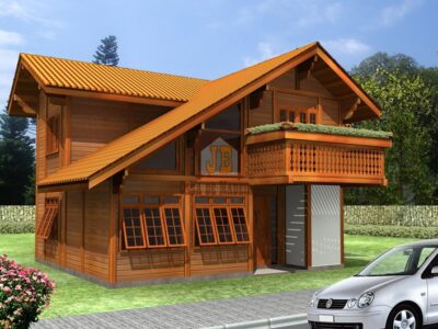 Casa de Madeira - Feira de Santana-BA - 166,96 m²