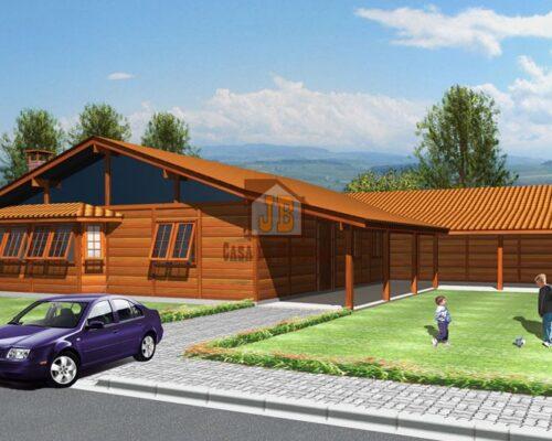 Casa de Madeira - Vitória da Conquista-BA - 262,13 m²