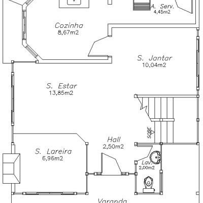 Casa de Madeira – Itaperuna-RJ – 138 m²