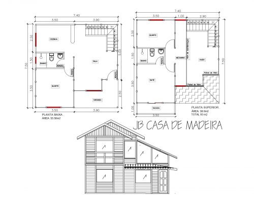 Casa de Madeira Duplex – Venda Nova do Imigrante ES – 93 m²